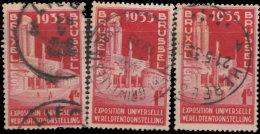 Belgique 1934. ~ YT 387 Par 3 - Palais De La Ville De Bruxelles