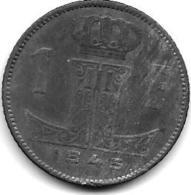 Belguim 1 Frank1945 Dutch  Vf+ - 1934-1945: Leopold III