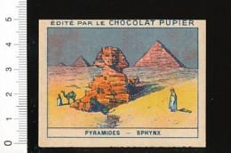 Chromo Chocolat Pupier / Pyramides - Sphinx / Egypte Dromadaire / Monument Antique / IM 138/24-C - Chocolat