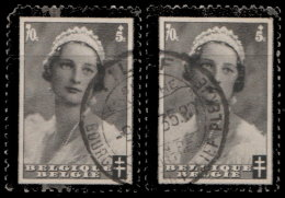 Belgique 1935. ~ YT 415 Par 2 - Mort De La Reine Astrid