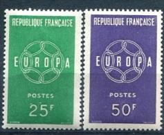 FRANCE Y&T** N° 1218-1219 (à 10% De La Cote) : EUROPA 1959 - Francia