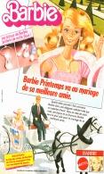 """PUB  POUPEE """" BARBIE """" De MATTEL 1982 (1) - Barbie"""
