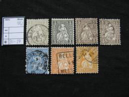 Schweiz  20 - 24  O - 1862-1881 Helvetia Assise (dentelés)