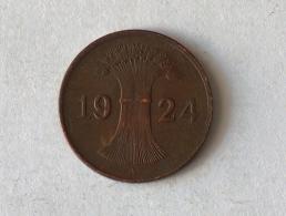 ALLEMAGNE 1 Pfennig 1924 A - [ 3] 1918-1933 : Weimar Republic