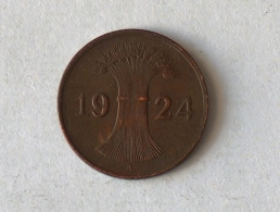 ALLEMAGNE 1 Pfennig 1924 A - [ 3] 1918-1933 : República De Weimar