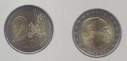 MONACO --2 Euros  RAINIER III 2001 - Monaco