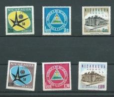 Nicaragua  - Aérien - Yvert Serie  N° 375  à  380 Tous **  Ava 8102 - Nicaragua