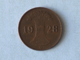 ALLEMAGNE 1 Pfennig 1928 D - 1 Rentenpfennig & 1 Reichspfennig