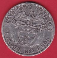 Colombie - 50 Centavos Argent - 1922 - Colombie