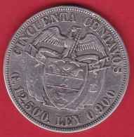 Colombie - 50 Centavos Argent - 1922 - Colombia