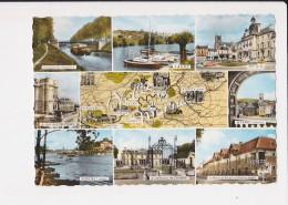 77 Paysages De La Vallée De La Marne Multi Vue 9 Vues Carte Géographique Lagny Meaux Ferte Sous Jouarre Nogent - Autres Communes