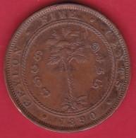 Ceylan - 5 Cents - 1890 - TB - Monnaies