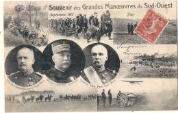 Militaria - Chomer Joffre Pau,  Souvenir Des Grandes Manoeuvres Du Sud Ouest TTB - Manoeuvres
