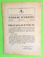 Fascismo MVSN - Foglio D'Ordini - Dispensa N° 23 - 1 Novembre 1929 - Documenti Storici