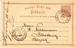 EP Michel P1 Obl. TàD HAGENAU I. ELS Du 8.1.75 Adressé à Strasbourg - Marcophilie (Lettres)