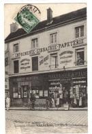 TOURNAN (77) - Imprimerie-Librairie MALHERBE & Fils - MAGASIN - SUPERBE ANIMATION - Tournan En Brie
