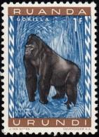 RUANDA-URUNDI - Scott #141 Gorilla Gorilla / Mint NH Stamp - 1948-61: Mint/hinged