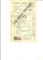 88 - Vosges - LE THILLOT - Facture VANNSON - Ferblanterie, Plomberie, Chauffage – 1928 - REF 44 - 1900 – 1949