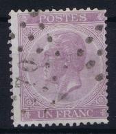 Belgium:  OBP Nr 21 Used  1865 - 1865-1866 Linksprofil