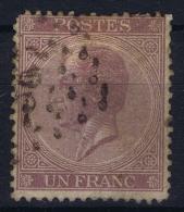 Belgium:  OBP Nr 21  A  Dark Violet Used  1865 - 1865-1866 Linksprofil