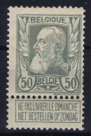 Belgium:  OBP Nr 78  MH/* Falz/ Charniere  1905 - 1905 Grosse Barbe