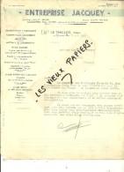 88 - Vosges - LE THILLOT - Facture JACQUEY - Travaux Publics Et Particuliers – 1939 - REF 44 - 1900 – 1949