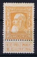 Belgium:  OBP Nr 79 A Orange Red  MH/* Falz/ Charniere  1905 - 1905 Grosse Barbe