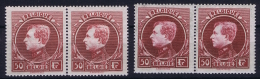 Belgium:  OBP Nr  2 Pair 291 C + D   MNH/**/postfrisch/neuf Sans Charniere  Cat Value 840 Euro - 1929-1941 Big Montenez