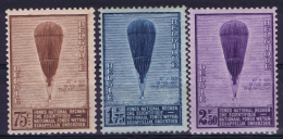 Belgium:  OBP Nr  353 - 355 MNH/**/postfrisch/neuf Sans Charniere  1932 Ballon Piccard - Belgique