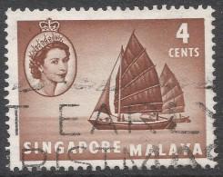 Singapore. 1955-59 QEII. 4c Used. SG 40 - Singapore (...-1959)