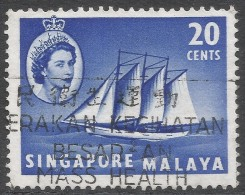 Singapore. 1955-59 QEII. 20c Used. SG 46 - Singapore (...-1959)