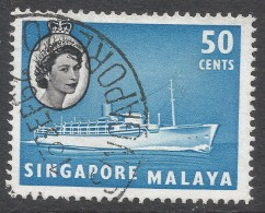 Singapore. 1955-59 QEII. 50c Used. SG 49 - Singapore (...-1959)