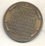 125 ANNIVERSARIO DELLA CORTE DEI CONTI ITALIANA 1862-1987 - FRASE DE CAVOUR AL DORSO TRES BON ETAT MEDAGLIA - Firma's