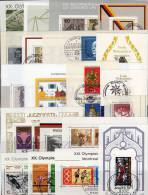 Lot BRD Block 3 Bis 22 O 100€ Sport Weihnachten Präsidenten UPU Einheit Widerstand Nobelpreis Blocs Ms Sheets Bf Germany - Stamps