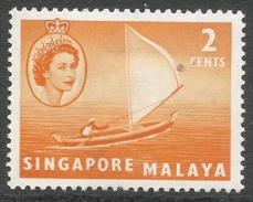 Singapore. 1955-59 QEII. 2c MH. SG 39 - Singapore (...-1959)