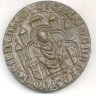 Medalla Sello De Los Ciudadanos Hildesheims Sigillum Burgensium De Hildensem MEDAILLON RARISIME TRES BON ETAT - Professionnels/De Société