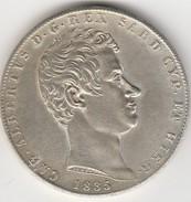 MONETA - CARLO - ALBERTO - D - G - REX - SARD CYP- ET HIER - 1835 - LEGGI - America Centrale