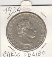 MONETA - CARLO - FELICE D - G - REX SAR-CYP-ET HAIER - 1824 - LEGGI - Central America