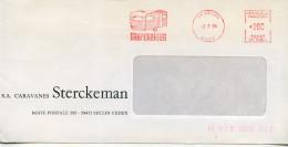 EMA Vacances Tourisme,camping,caravane Sterckeman,59 Seclin,Nord,lettre Obliterée 2.7.1984 Seclin - Unclassified