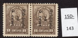 Paraguay  1902 Small Lion 5c/8c Pair, One With First I  In Habilitado Omitted. MH  SG 86/b