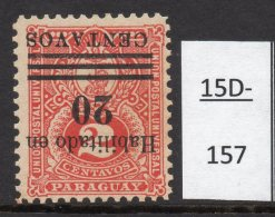 Paraguay 20c/2c Numeral Design With Surcharge Inverted MH (SG 180a)