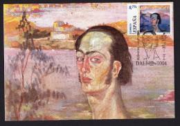 SPAIN ESPAGNE 2004 MAXIMUM CARD 100 YEARS OF BIRTH PAINTER SALVADOR DALÍ PAINTING ART - Arte
