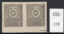 Paraguay 1913 1c Star Imperf Pair MH With Part Of Printer's Imprint. (SG 226 Var)