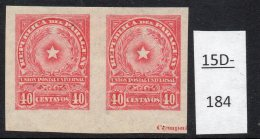 Paraguay 1913 40c Star Imperf Pair MH With Part Of Printer's Imprint. (SG 231 Var)
