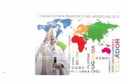 VATICANO FOGLIETTO NUOVO VIAGGI PAPA ANNO 2015 - Vaticano (Ciudad Del)