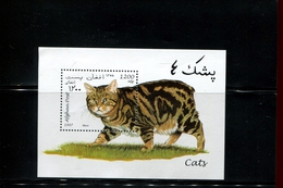 405360481 AFGHANISAN DB 1997 POSTFRIS MINT NEVER HINGED POSTFRISCH EINWANDFREI  YVERT BF 79 KATTEN FELINS CHATS - Afghanistan