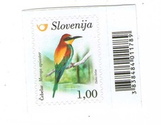 Slovenia - Merops Apiaster, 1 Self-adhesive Stamp, MNH
