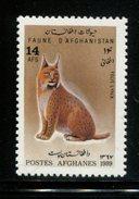 405369265 AFGHANISAN DB 1989POSTFRIS MINT NEVER HINGED POSTFRISCH EINWANDFREI  YVERT 1439 KATTEN FELINS LYNX - Afghanistan