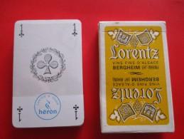 JEU DE CARTES VINS FINS D ALSACE LORENTZ BERGHEIM - 32 Cards