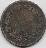 10 Centesimi 1867 H - 1861-1878 : Victor Emmanuel II